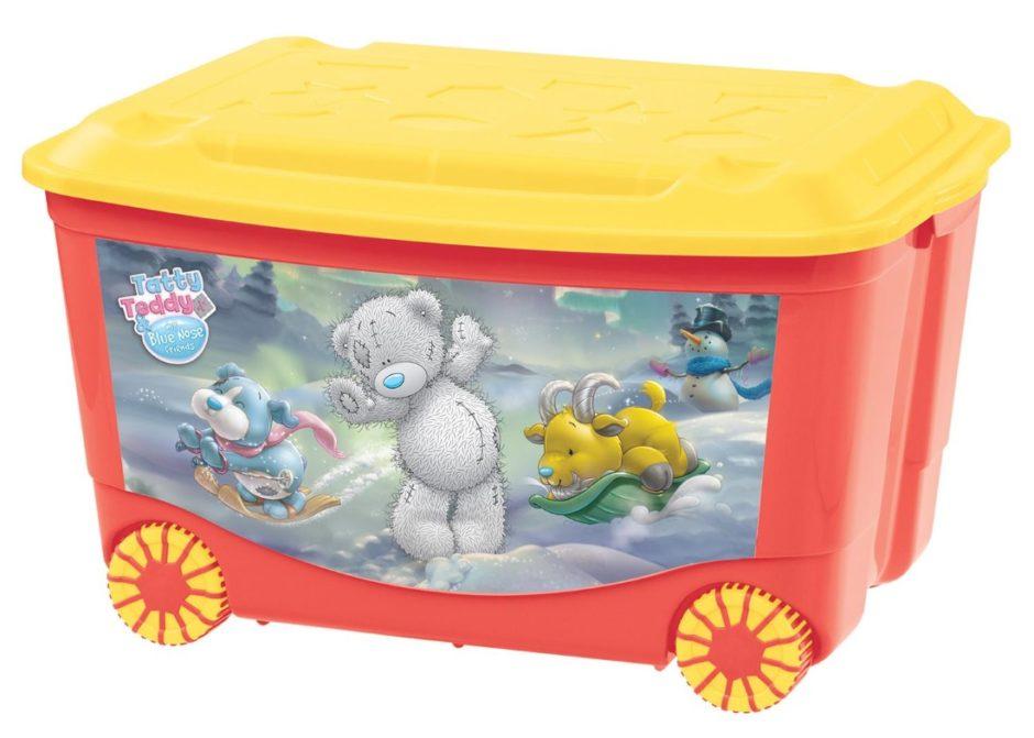 Ящик для детских игрушек на колесах может передвинуть даже ребенок