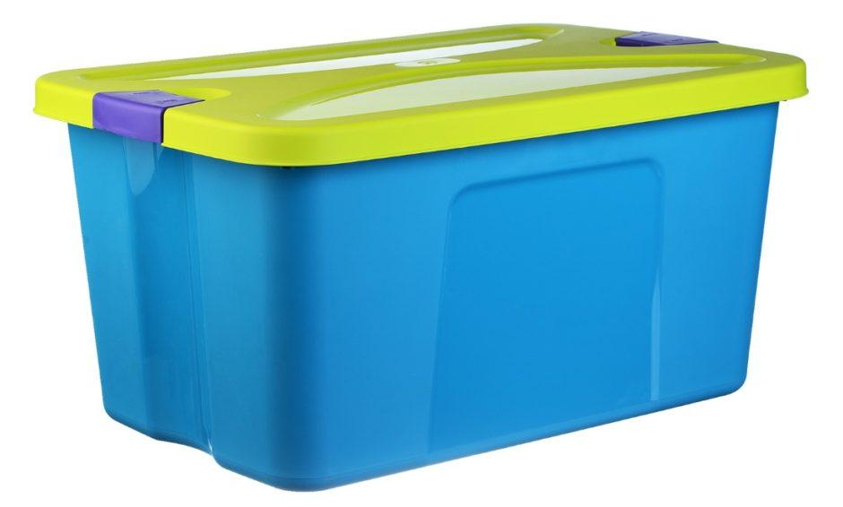 Пластиковый контейнер Idea М 2597 Секрет 50L Turquoise: цена — 720 рублей