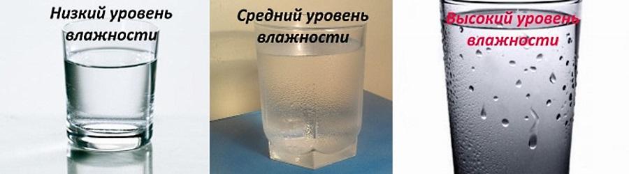 Стакан с холодной водой поможет определить уровень влажности в домашних условиях