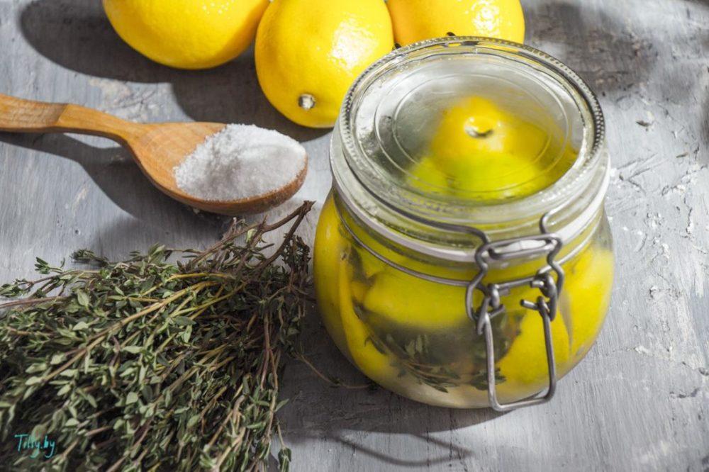 Лимоны с солью — для приготовления рыбных и мясных блюд