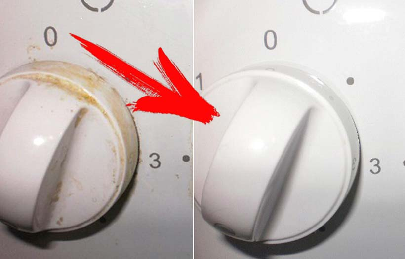 Результат чистки ручек зубной щеткой и зубочистками