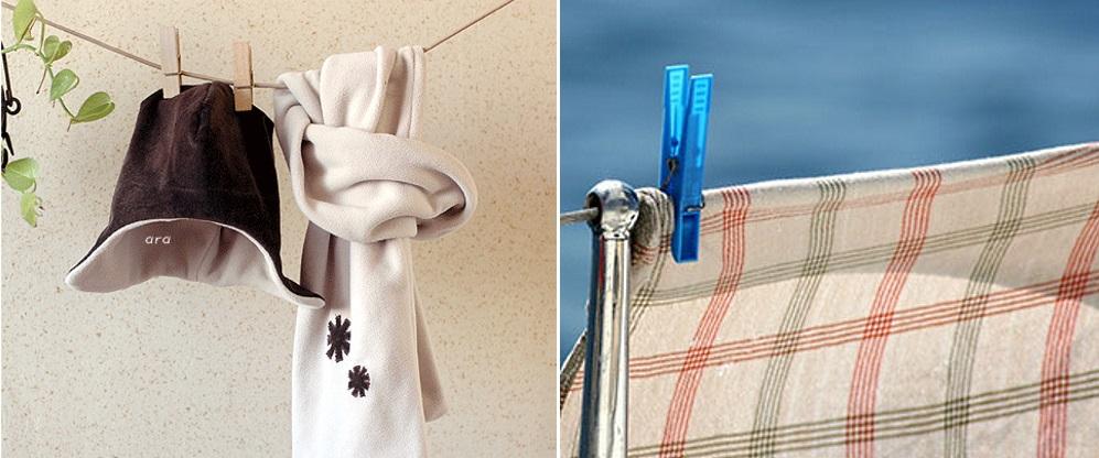 Чтобы флисовый материал не сел, его нужно сушить вертикально