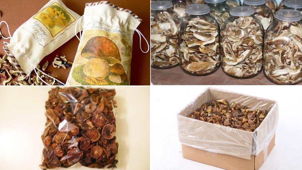 Это самые распространенные упаковки, в которых обеспечивается правильная сохранность сушенных грибов