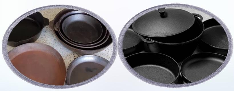 Ржавчина на чугунной сковороде что делать
