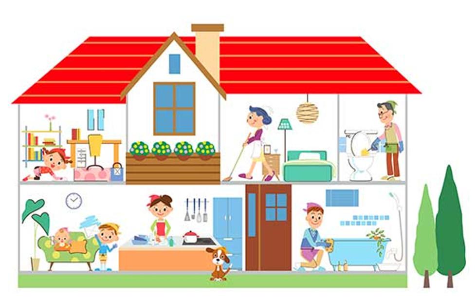 Привлекайте к уборке всю семью, у каждого — своя обязанность