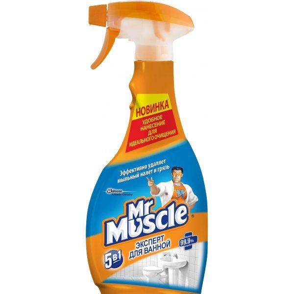 """Универсальное чистящее средство Mr. Muscle """"Эксперт для ванной"""" 5 в 1"""