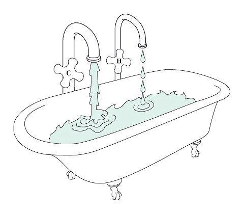 Альтернатива пару с кастрюли — горячая ванна. Наберите ванную горячей водой, комнату закройте, подержите ветви над ванной 5–10 минут. Процедуру проводите до полного расправления хвои.