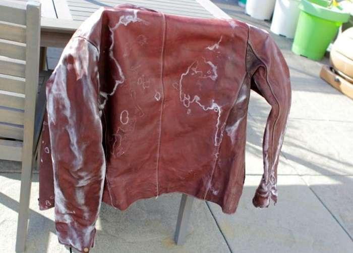 Так будет выглядеть кожаная куртка после стирки в машинке