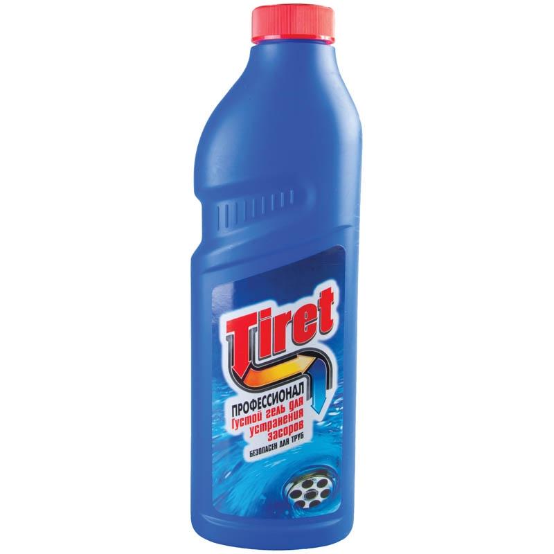 Средство 2. Тирет — средство для очищения сантехники. Пробка сдвигается к канализационному выходу, не расщепляя остатки еды.