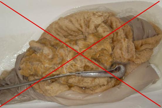 Стирать искусственную шубу в воде запрещено — деформируется подкладка