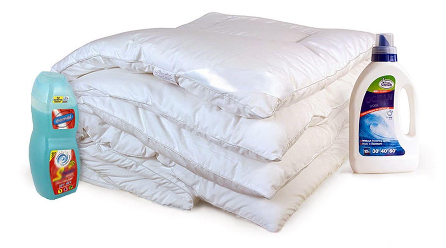 Жидкие средства для стирки шерстяных изделий сохраняют мягкость и воздушность одеял