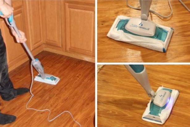 Классический прибор отмывает полы без использования чистящих средств