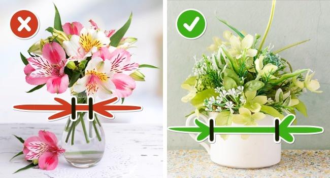 Чтобы цветы простояли долго, выбирайте просторную вазу, чтобы стебли свободно располагались в ней