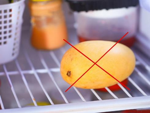 Неспелое манго нельзя хранить в холодильнике, если плод дозреет в таких условиях, он не будет сладким, с травянистым и неприятным вкусом
