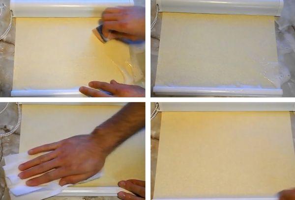 Как очистить рулонные шторы