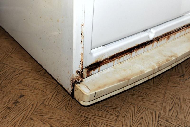 Если на холодильнике есть ржавчина, перед покраской нужно обработать эти места антикоррозийным составом