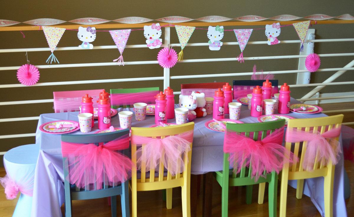 Детский праздник в стиле «Китти»