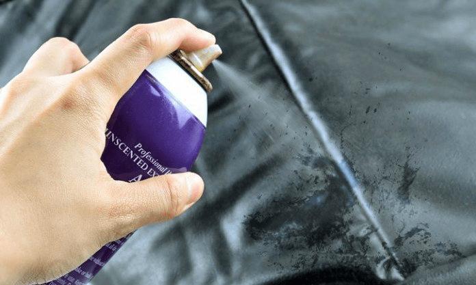 Старайтесь распылить лак для волос только на загрязнённый участок