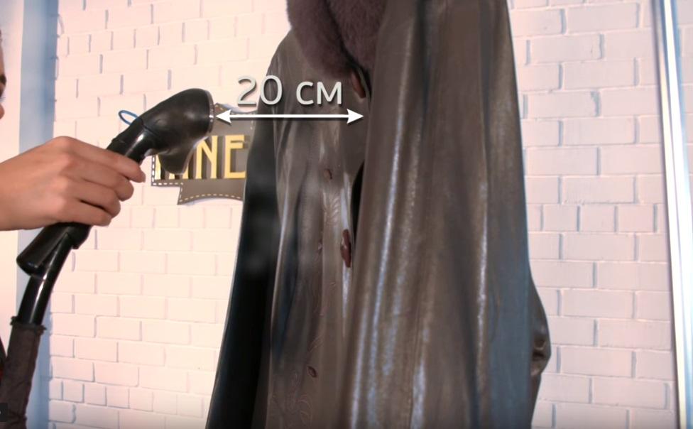 Как разгладить куртку из кожзаменителя