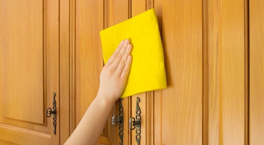 Если на дверях загрязнения незначительные, достаточно протереть их увлажненной мягкой губкой