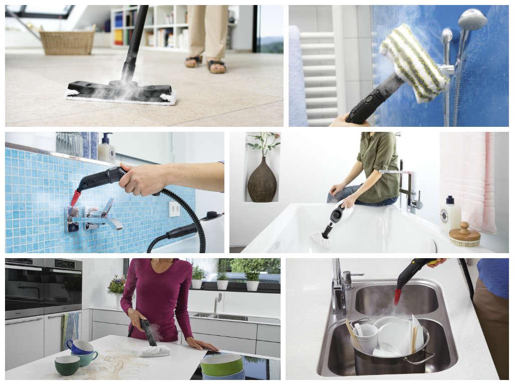 Паровой очиститель поможет в уборке всех поверхностей жилища