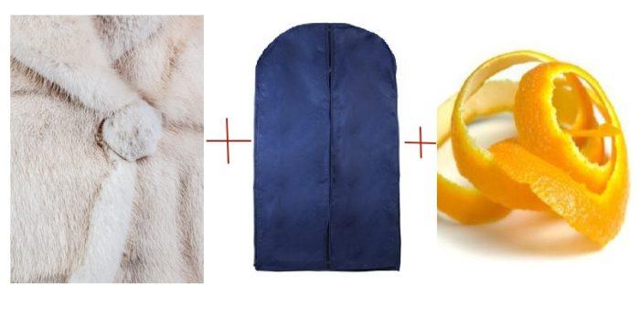 Светлый мех желтеет от дневного света — храните его в темном чехле для одежды. А чтобы не завелась моль, положите в чехол шкурки от апельсина