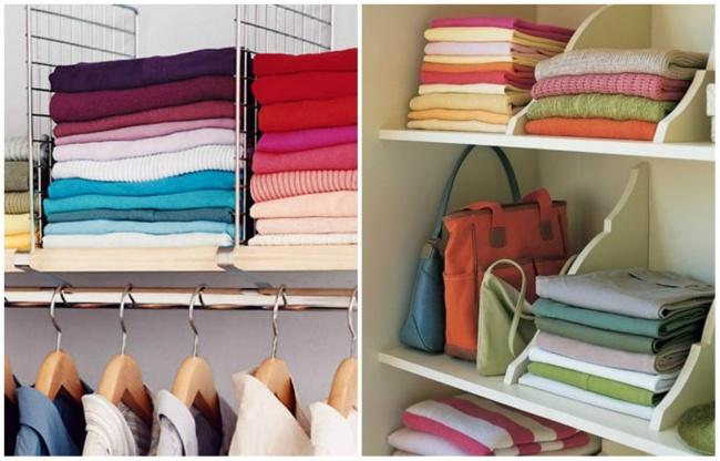 Если места в шкафу достаточно, можно сложить одежду китайским или классическим способом