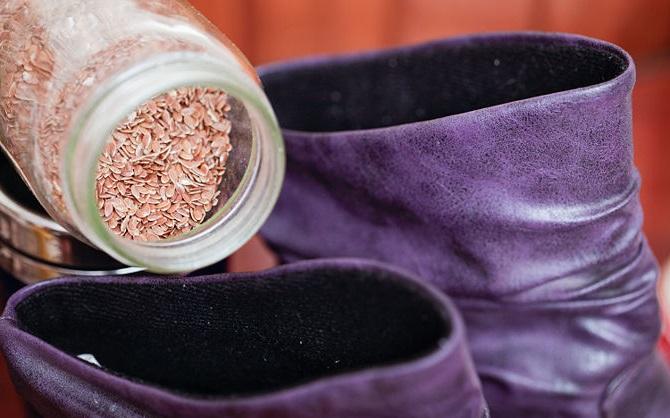 Набухая, зерно будет растягивать обувь