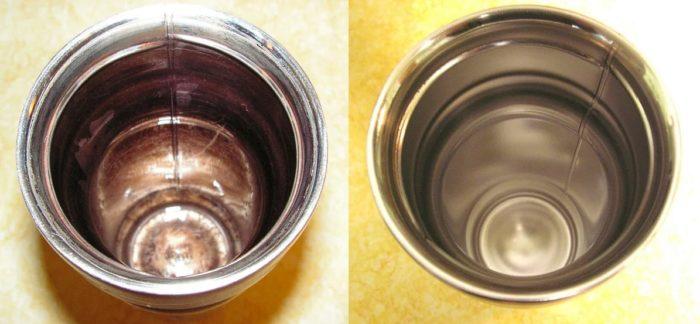 Черный налет в термосе образуется после каждого заваривания чая, простого ополаскивания не всегда достаточно