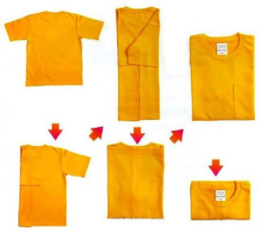 Самый простой метод сложить футболку — детский